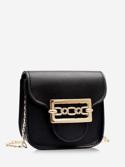 Cute Chain Mini Candy Crossbody Bag - Black