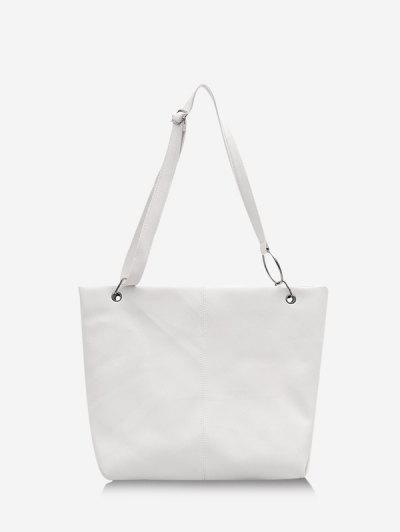 Solid O Ring Shoulder Bag - Milk White
