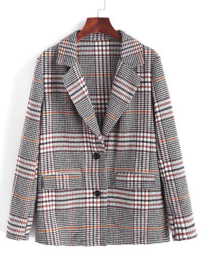 ZAFUL Houndstooth Lapel Blazer - Multi-a S