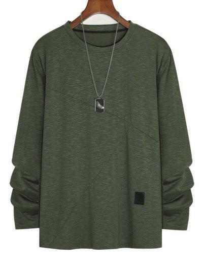 Camiseta De Manga Larga Con Detalle De Brezo - Verde M