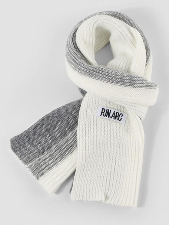 best Gradient Winter Long Knitted Scarf - WHITE