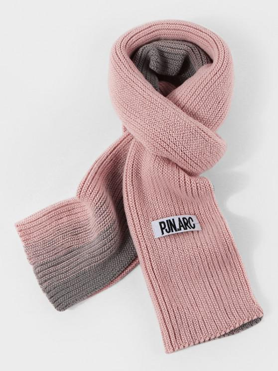 online Gradient Winter Long Knitted Scarf - LIGHT PINK