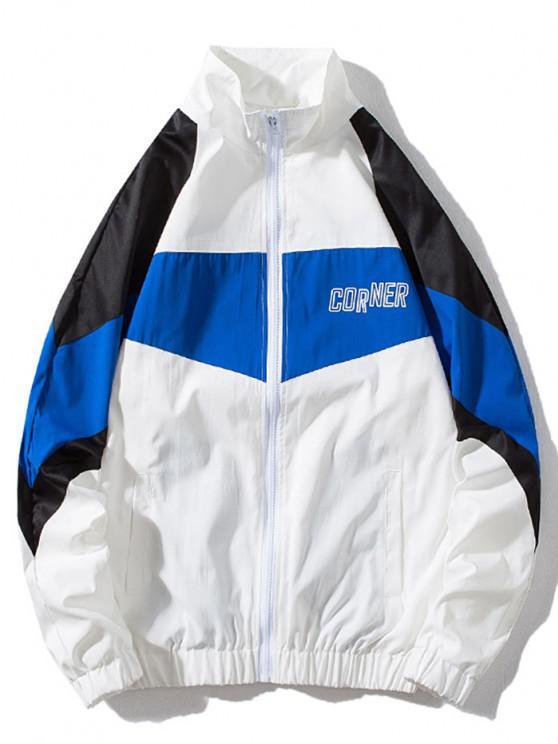 Around Corner Graphic Colorblock Windbreaker Jacket - متعددة-A L
