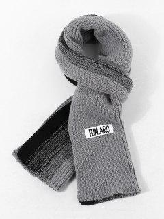Gradient Winter Long Knitted Scarf - Cloudy Gray