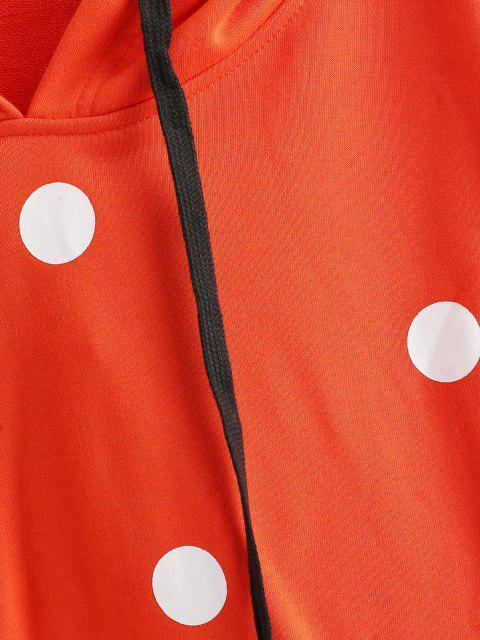 Sudadera con Capucha Puntos Cordones - Naranja S Mobile