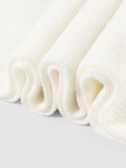 best Gradient Winter Long Knitted Scarf - WHITE  Mobile