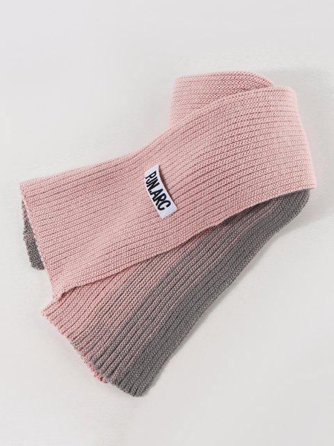 Écharpe d'Hiver Longue Tricotée Dégradée - Rose clair  Mobile