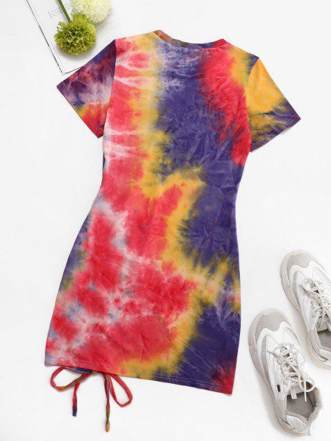 Vestido Grueso Colorido Teñido Anudado - Multicolor S Mobile
