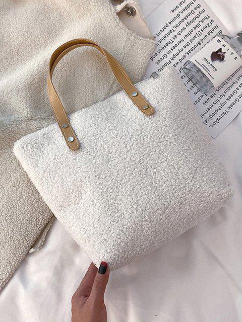 Teddy-Pelz-Taschen-Tasche - Milchweiß  Mobile