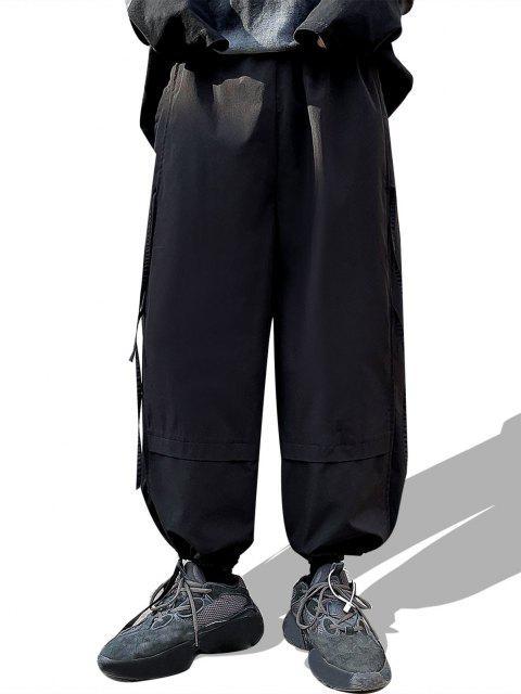 Panle Casual de Pierna Ancha con Nudo - Negro M Mobile