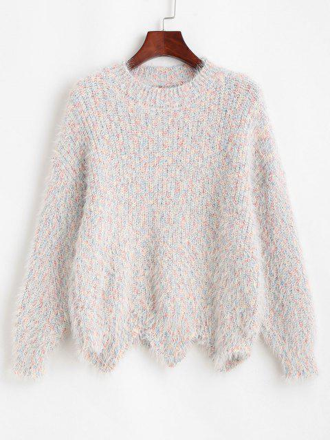 ヘザースカラップ裾ファジーセーター - マルチ ワンサイズ Mobile