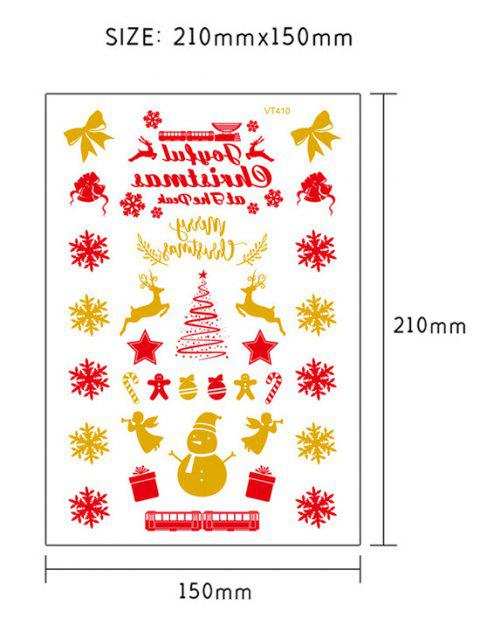 sale Christmas Snowflake Foil Print Tattoo Stickers - GOLDEN  Mobile