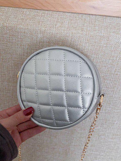 buy Argyle Sewing Design Canteen Bag - PLATINUM  Mobile