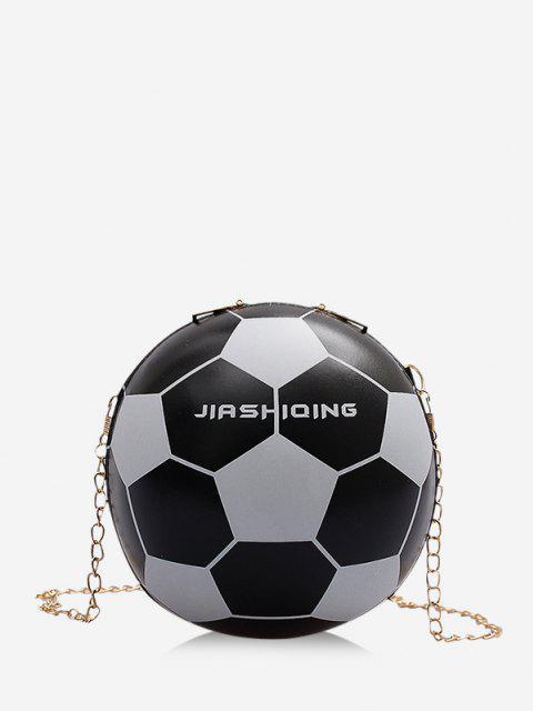 Runde Fußball Stil Kette Umhängetasche - Schwarz  Mobile