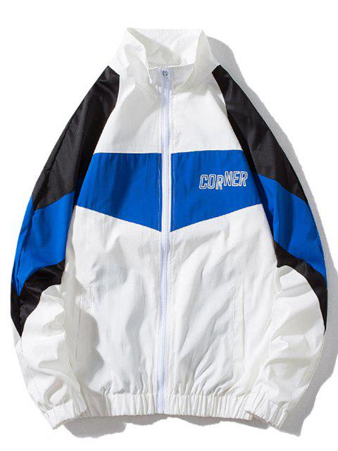 online Around Corner Graphic Colorblock Windbreaker Jacket - MULTI-A XL Mobile