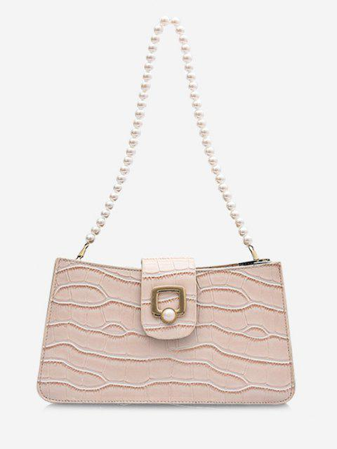 chic Faux Pearl Strap Shoulder Bag - BEIGE  Mobile