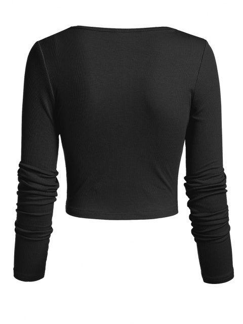 ZAFUL Kein Schmerz Kein Gewinn Kurzärmliges T-Shirt mit Grafikmuster - Schwarz S Mobile
