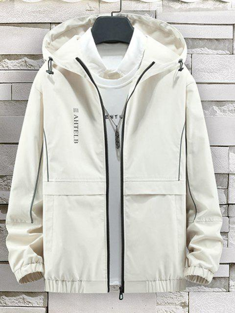 Veste à Capuche avec Fermeture Éclair et à Imprimé Cœur et Rayon de Soleil - Beige XS Mobile