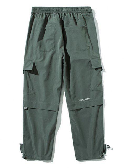 Pantalones con Bolsillo y Estampado de Letras - Gris Oscuro L Mobile