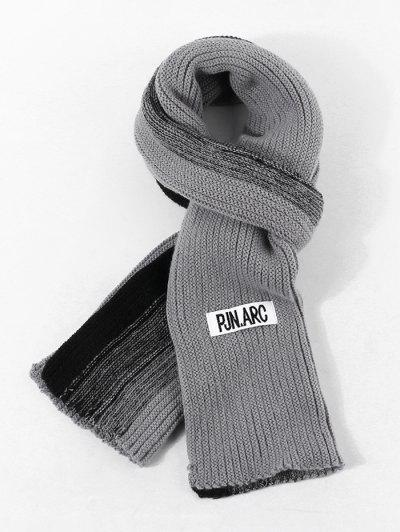 Gradient Winter Langer Gestrickter Schal - Bewölkt Grau