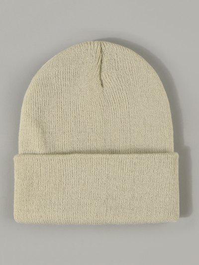 Sombrero De Invierno Sólido Borde - Beige