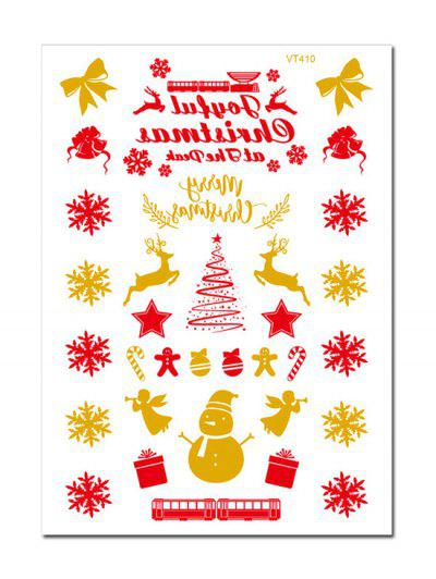 Christmas Snowflake Foil Print Tattoo Stickers - Golden