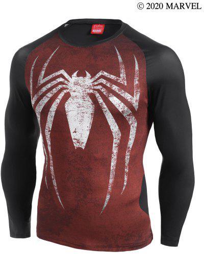 Marvel Spider-Man Colorblock Raglan Sleeve T-shirt - Multi-a L