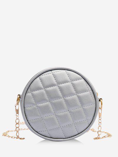 Argyle Sewing Design Canteen Bag - Platinum