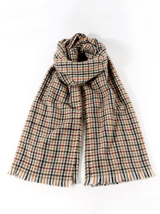 Colorblock Plaid Pattern Shawl Scarf - متعددة-A