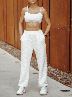 ZAFUL Cami Top And Pants Two Piece Set - White L