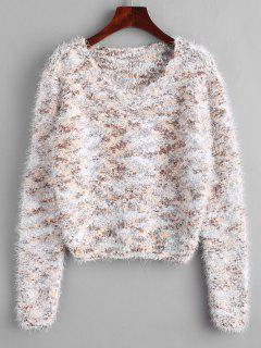 Fuzzy Chenille Confetti Knit Sweater - Multi
