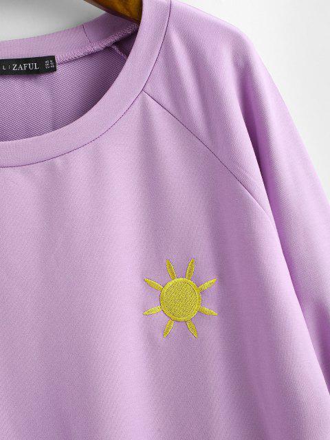 Sweat-Shirt Motif Soleil Brodé - Mauve L Mobile