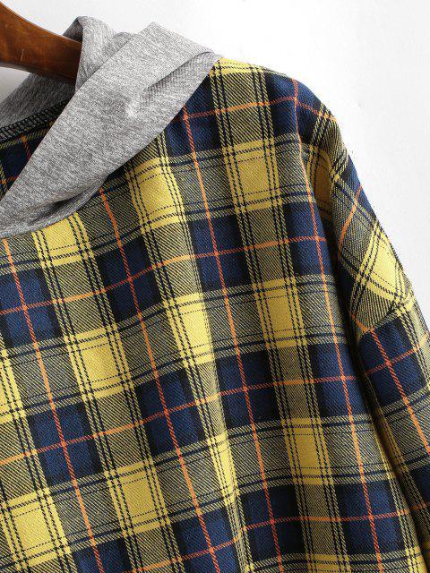online Tartan Waist Tie Hoodie - MULTI M Mobile
