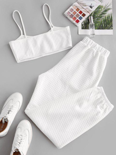 ZAFUL Cami Top und Hose Zweiteiler Set - Weiß M Mobile