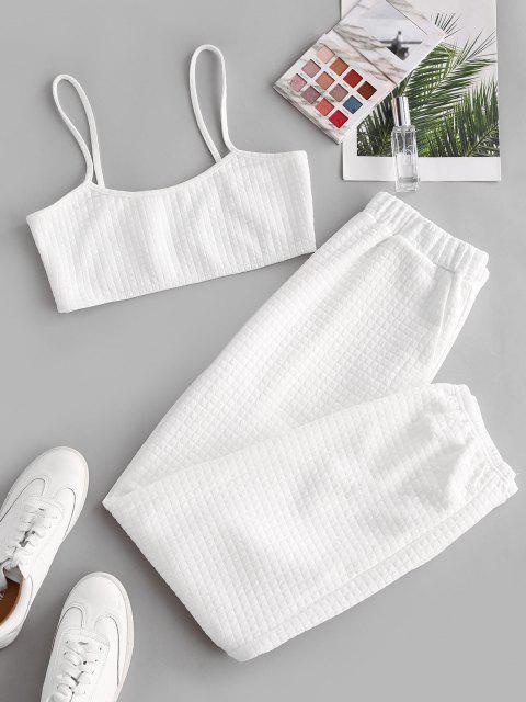 ZAFUL Cami Top und Hose Zweiteiler Set - Weiß L Mobile