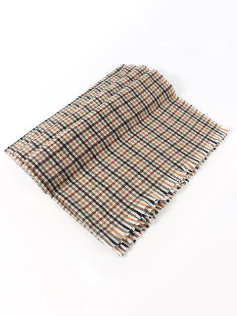 Colorblock Plaid Pattern Shawl Scarf - متعددة-A  Mobile