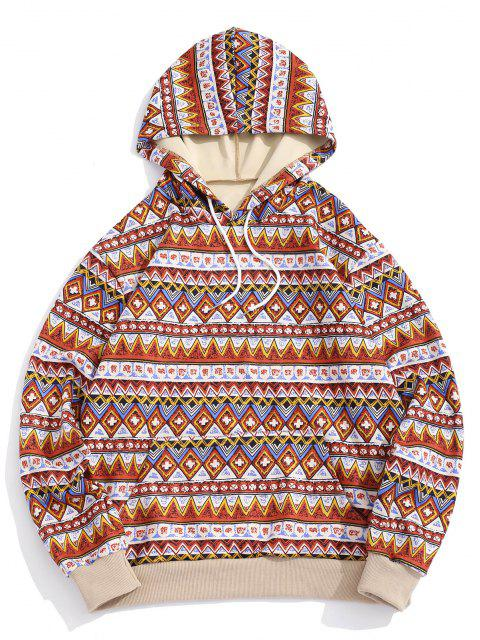 ZAFUL Tribal Geometrische Muster Farbblock Hoodie - Multi M Mobile