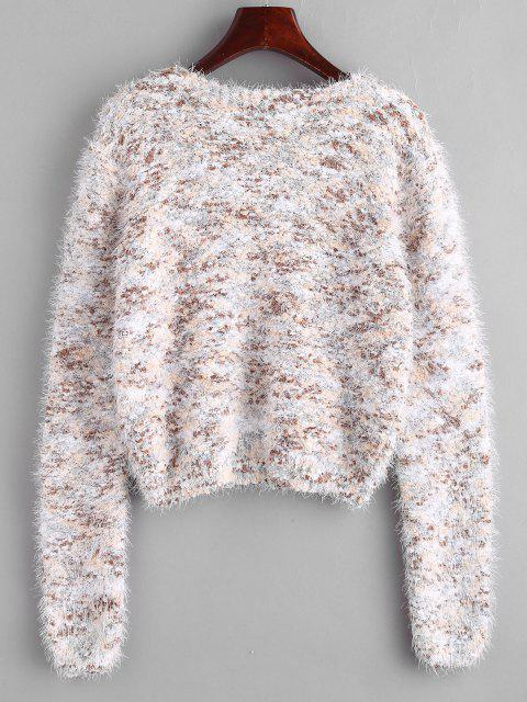 chic Fuzzy Chenille Confetti Knit Sweater - MULTI ONE SIZE Mobile