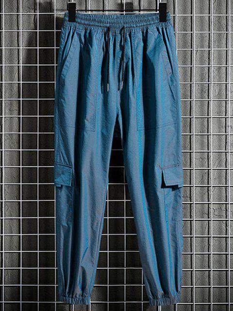 Tunnelzug Multi Taschen Reflektierende Jogger Hose - Blaubeere XS Mobile