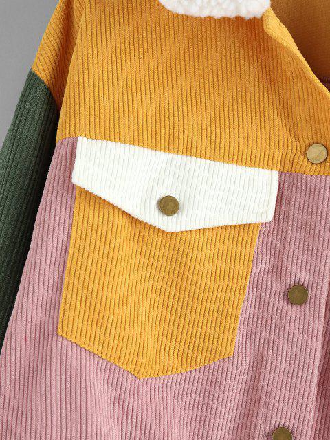 ZAFUL Chaqueta de Pana con Bloqueo de Color - Multicolor-A XL Mobile