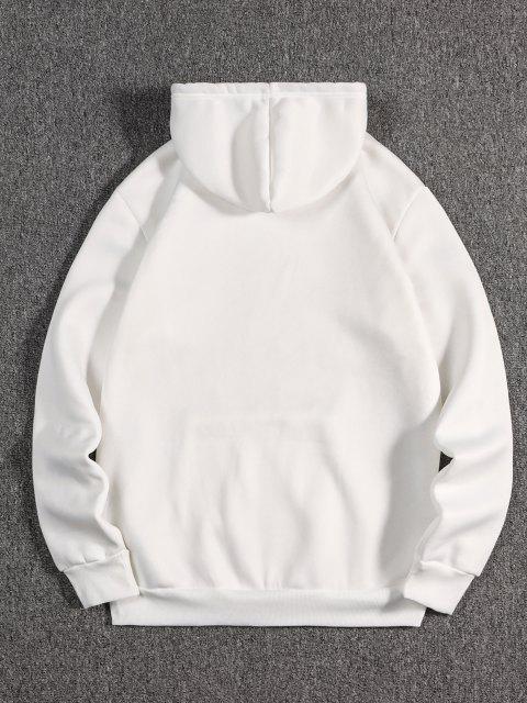 Bolso Dianteiro de Lã Moletom - Branco M Mobile