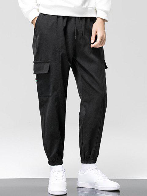 Pantalones de Cargo con Estampada de Letras - Negro XS Mobile