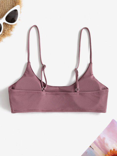 ZAFUL Textured Bralette Bikini Top - أرجواني S Mobile