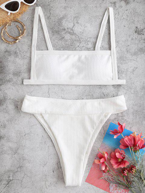 Bikini di ZAFUL a Costine a Gamba Alta - Bianca S Mobile