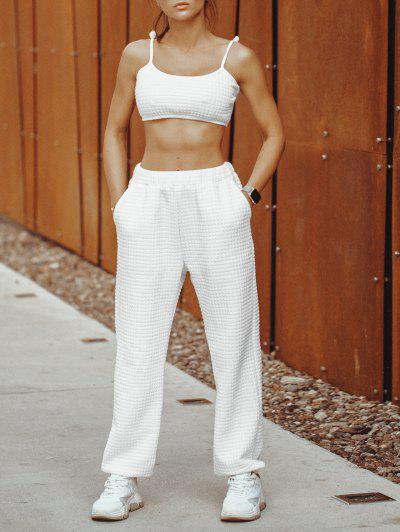 ZAFUL Cami Top And Pants Two Piece Set - White Xl