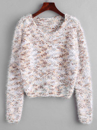 Fuzzy Chenille Confetti Knit Sweater - Multi