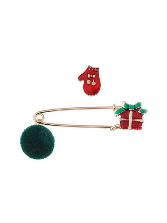 2pcs Weihnachten Pom Pom Brosche Set - Multi-A