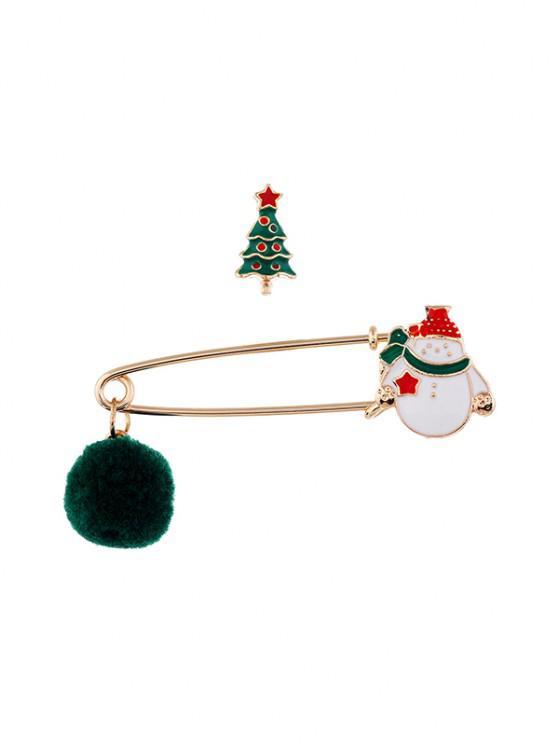 2pcs Weihnachten Pom Pom Brosche Set - Multi-B