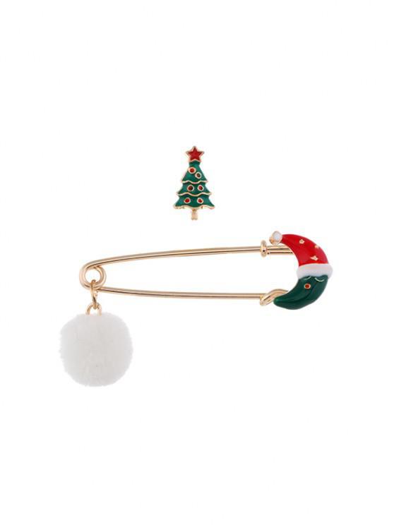 2pcs Weihnachten Pom Pom Brosche Set - Multi-F