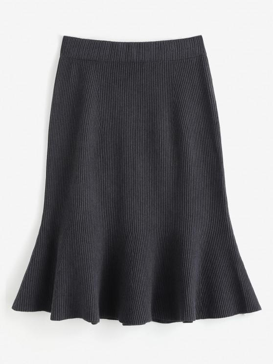 best Knitted Midi Mermaid Skirt - GRAY ONE SIZE
